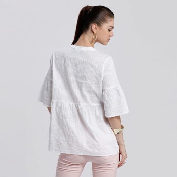 Bossini Textured Top with Bell Sleeves