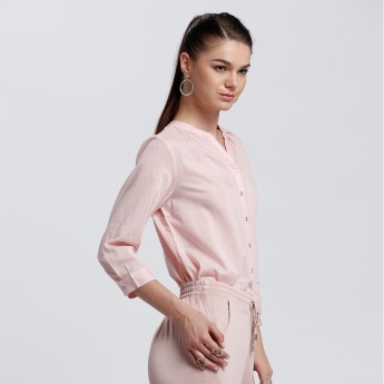Bossini 3/4 Sleeves Top with Complete Button Placket