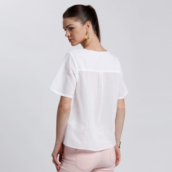 Bossini V-Neck with Short Sleeves