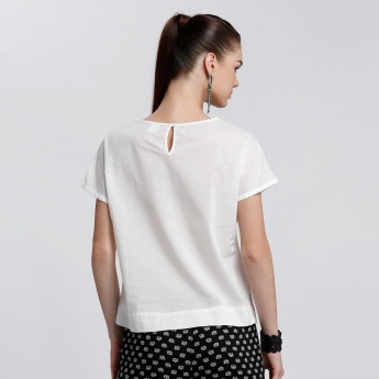 Bossini Round Neck Top with Short Sleeves