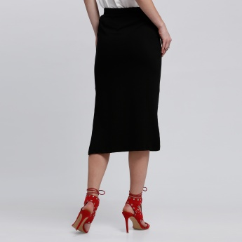 Bossini Midi Skirt with Side Slit
