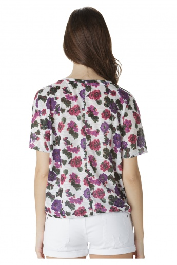 Printed Dolman Sleeves Top
