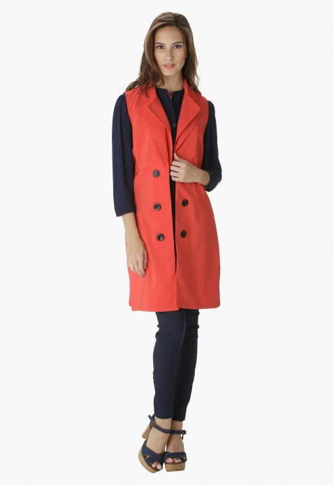 Solid Colour Long Jacket