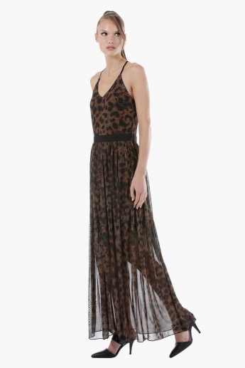 Strappy Printed Maxi Dress in Regular Fit