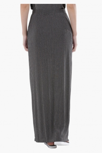 Striped Maxi Column Skirt in Regular Fit