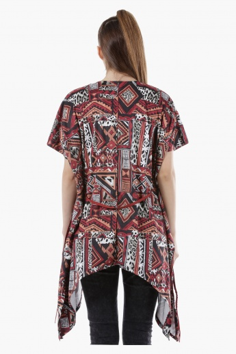 Tribal Print Shrug in Regular Fit