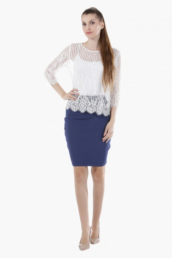 Bandage Pencil Skirt in Regular Fit