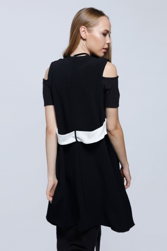 Sleeveless Jacket with Open Front