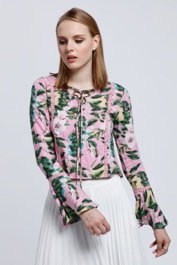 Printed Long Sleeves Top