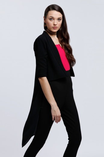 High Low Hem Jacket with 3/4 Sleeves