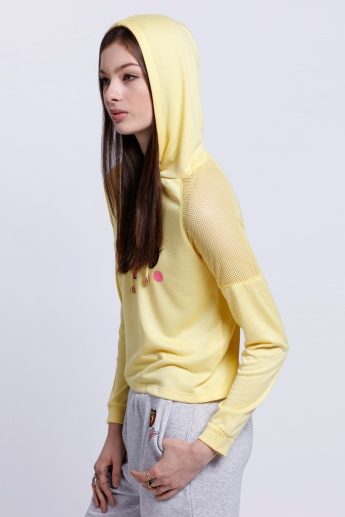 Printed Long Sleeves T-Shirt with Hood