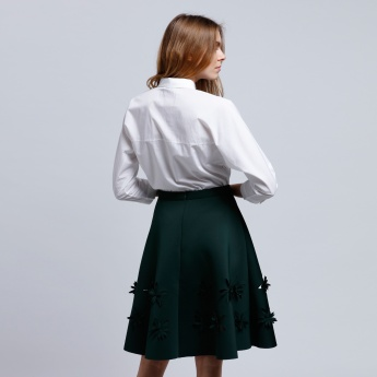 Embroidered Shirt with 3/4 Sleeves