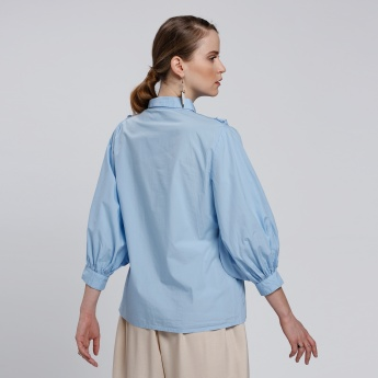 Long Sleeves Blouse with Frills