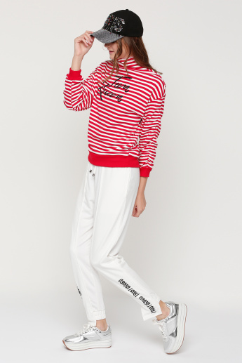 Striped Turtle Neck Sweatshirt with Long Sleeves