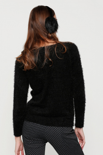Round Neck Sweatshirt with Long Sleeves