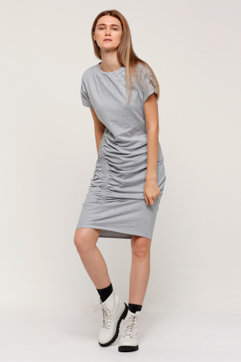 Midi Dress with Ruching Detail