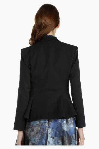 Elle Peplum Jacket with Long Sleeves