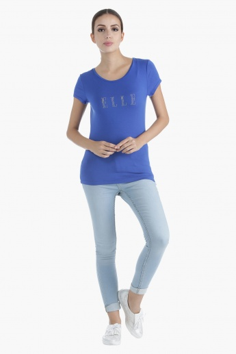 Elle Printed T-Shirt in Regular Fit