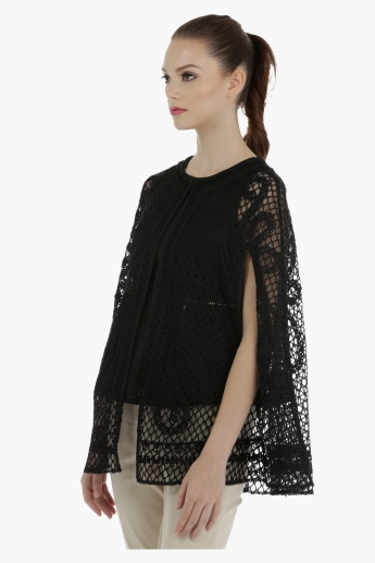 Elle Cod Embroidered Cape