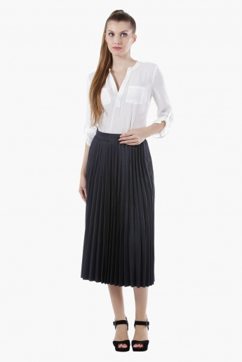 Elle Midi Skirt with Pleats in Regular Fit