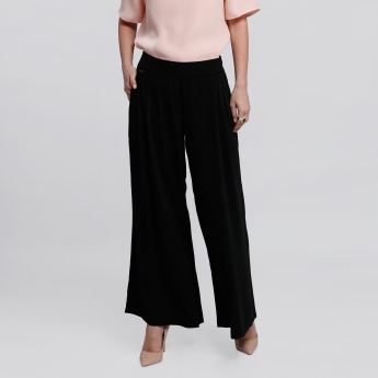 Elle Full Length Palazzo Pants with Pocket Detailing
