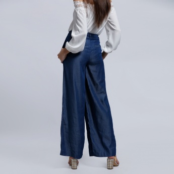 Elle Palazzo Pants with Button Closure