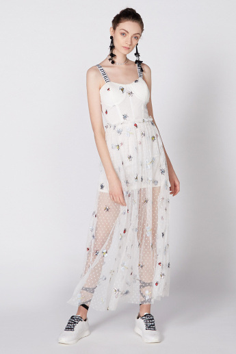 Elle Printed Maxi Dress with Spaghetti Straps