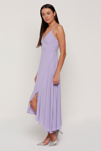 Elle Spaghetti Straps Dress with Asymmetric Hem