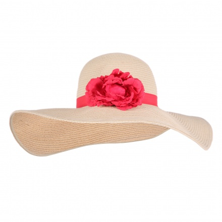 Flower-embellished Sun Hat