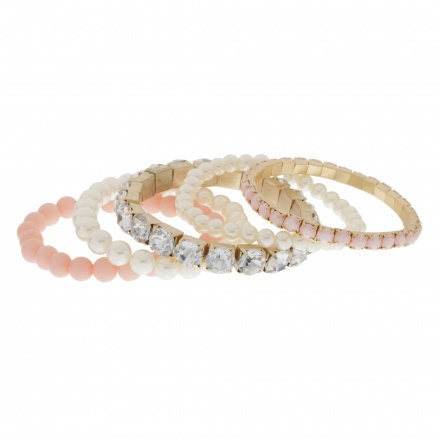 Embellished Bracelets - Set of 5