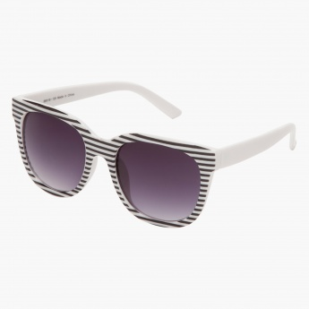 Striped Wayfarer Sunglasses