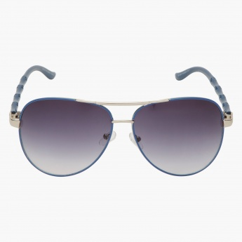 Textured Aviator Sunglasses