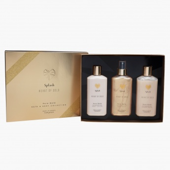 Heart of Gold Pure Gold Body Lotion and Body Mist with Shower Gel Gift Set