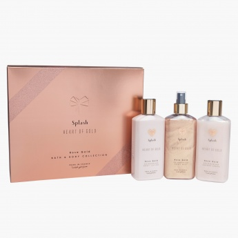 Heart of Gold Pure Rose Gold Body Lotion and Body Mist with Shower Gel Gift Set