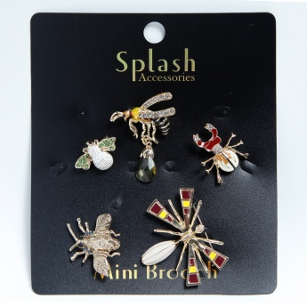 Assorted Insect Brooch - Set of 5