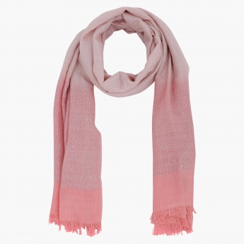 Ombre Scarf with Fringes