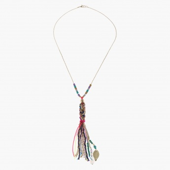 Dangling Pendant Necklace with Lobster Clap Fastening