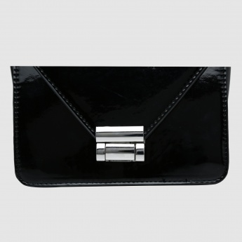 Crossbody Bag with Lock Closure