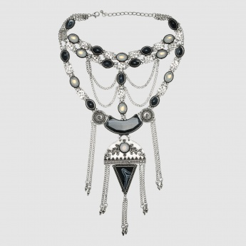 Dangling Studed Necklace