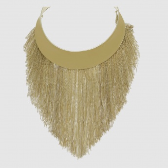 Fringed Choker Necklace with Lobster Clasp