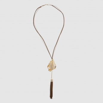 Safari Chic Long Necklace with Lobster Clasp