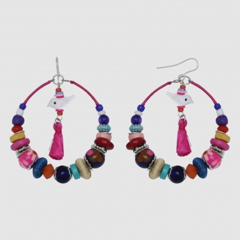 Beaded Earring with Fish Hook Closure