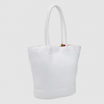Embroidered Tote Bag with Dual Handles