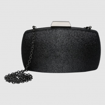 Textured Clutch with Sling