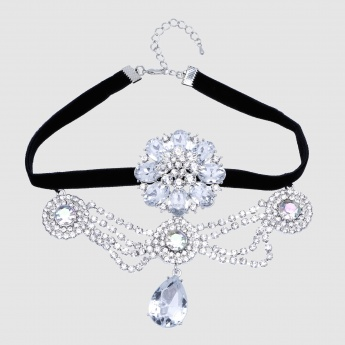 Studded Choker Necklace with Lobster Clasp Closure