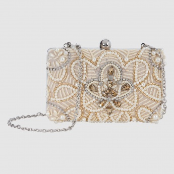 Beaded Clutch with Sling