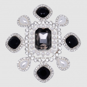 Studded and Pearl Brooch