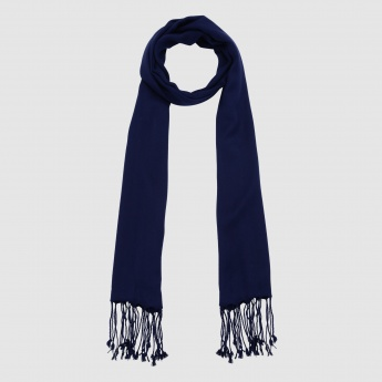 Long Scarf with Tassels on the Hem