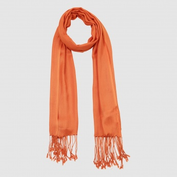 Scarf with Tassels on the Hem