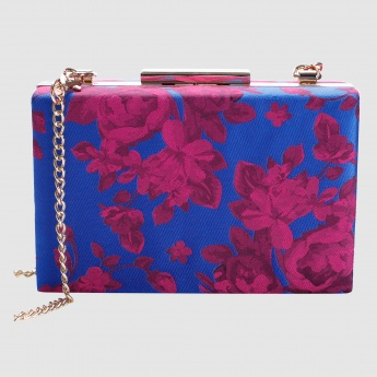 Iconic Printed Clutch with Sling